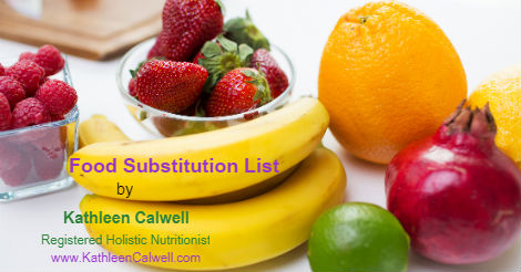 Enjoy Your Food – Food  Substitution List
